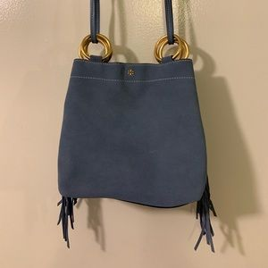 "Tory Burch ""Farrah"" Mini Suede Fringe Shoulder Bag"